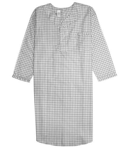 New Men/'s Comfortable Nightshirt Gown Long Sleeve Size M-L-XL-2XL-3XL