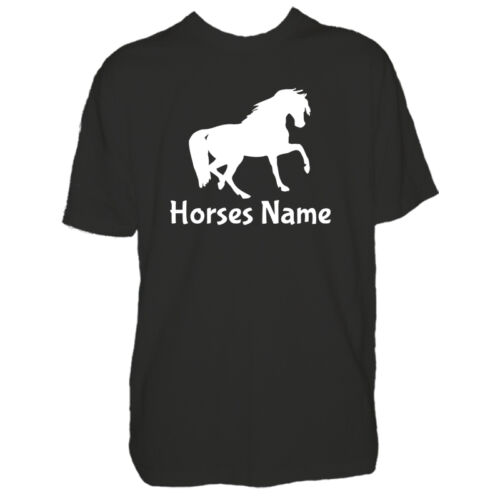 Childrens Custom Horse Tshirt Personalised Horses Pony Name Boys Girls T Shirt