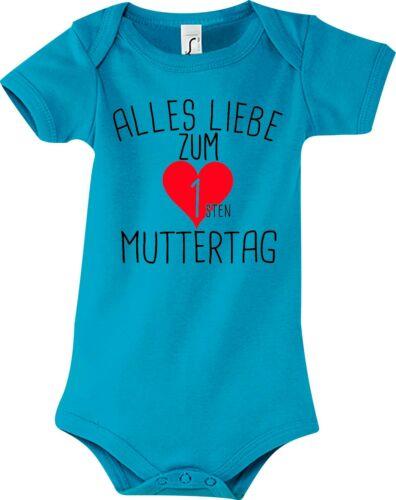 Babybody Strampler Alles Liebe zum ersten Muttertag Zwoopi Baby Body