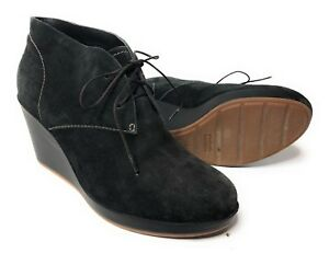 510f6598b3 Cole Haan Women's Suede Wedge Booties Ankle Boots Chukka Boots Black ...