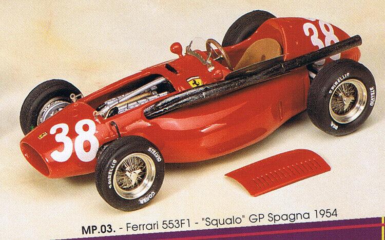 caliente FERRARI 553 F1 Hawthorn 1st GP GP GP SPAIN '54-detail blancoo-metal 1 43 MODEL PLUS KIT3  venta