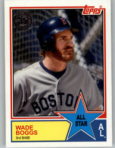 Details About Wade Boggs 2018 Topps Series 2 1983 Topps All Star 83as 47 Red Sox