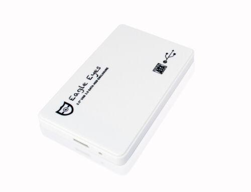"White E2E 2.5/"" SATA USB 3.0 HDD Enclosure External for MacBook Pro a1398 a1502"