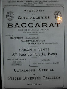 BACCARAT 1916 CRISTAUX TAILLE Catalogue livrecristalleries 39 PAGES PDF JgRHNziB-09164507-735397721