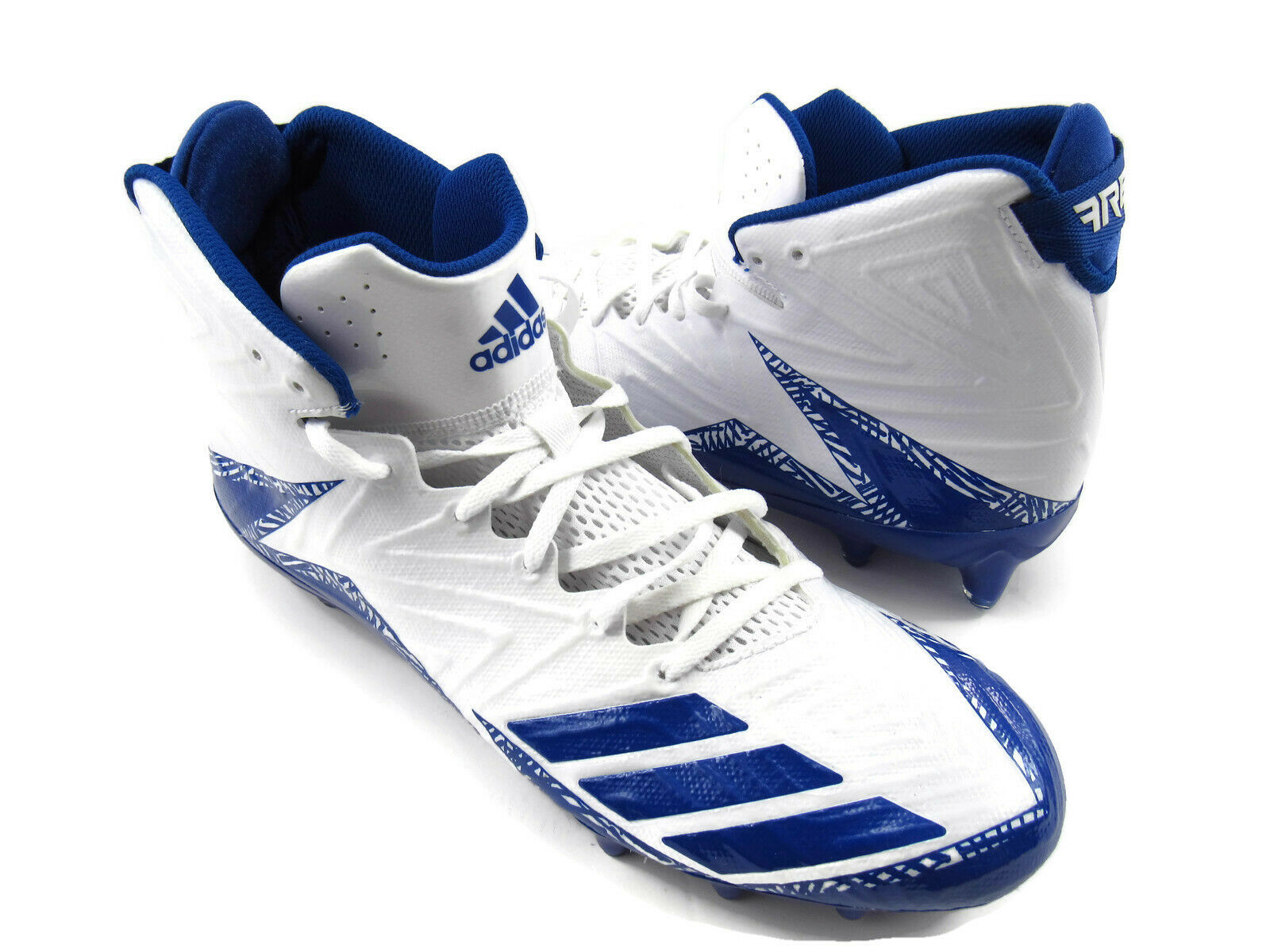 Adidas 117745378 Freak Men's Football Cleats White   blueee US Size 12 New