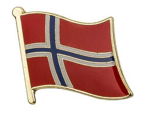 Norway Flag Pin Lapel Badge Norwegian Noreg Norge High Quality Gloss Enamel