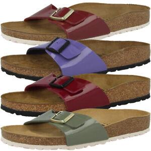 finest selection bfd5b 7b7f2 Details zu Birkenstock Madrid Birko Flor Lack Schuhe Damen Sandalen  Pantoletten Hausschuhe