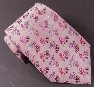 """Paul Smith Rosa Blumen Muster 3.5 """" Breit Seidenkrawatte Krawatten & Fliegen"""