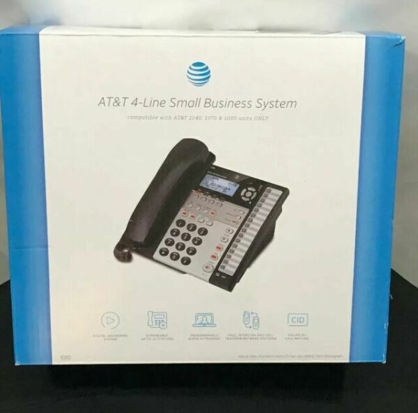 AT&T 1040 4-line Expandable Corded Small Business ...