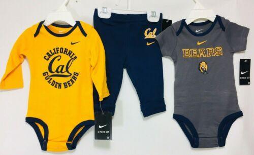 New Nike UC California Bears Three Piece Outfit 3//6 /& 6//9 Months  Regular $36