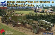 Bronco Models - 1/35 British (Airborne) 75mm w/ 1/4Ton Truck & Trailer # 35163