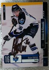 Montreal Canadiens Olivier Fortier Signed 08/09 Oceanic de Rimouski Card Auto