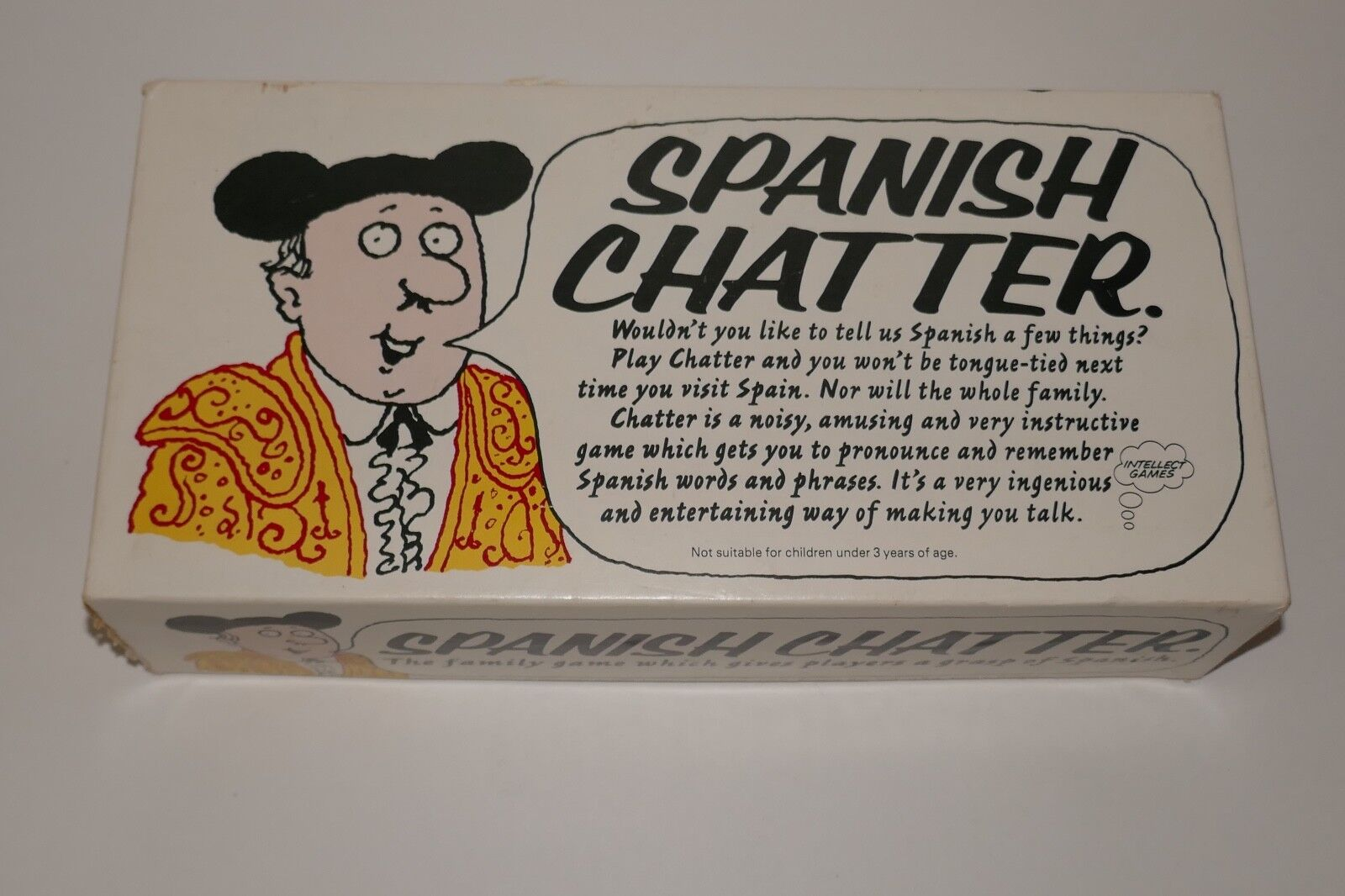Intellect Games 1976 Spanish Chatter Game RARE