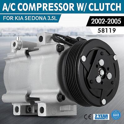 A//C Compressor W//Cluth  For  2002-2005 Kia Sedona 3.5L