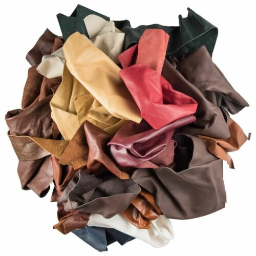 2 lb mixed leather for arts /& crafts  peices scraps crafts hobby X50 Gcd