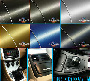 Brushed-Steel-Car-Wrapping-Vinyl-Bubble-Free-Wrap-Film-Foile-FREE-DELIVERY