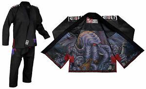 Raven-Fightwear-Men-039-s-Cthulhu-Elite-Jiu-Jitsu-Gi-BJJ-Uniform-Black
