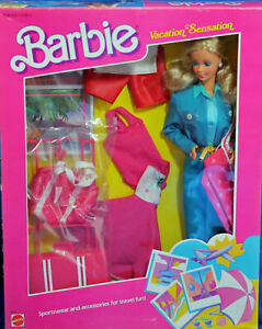Barbie-1675-MIB-1986-Vacation-Sensation-Sportswear-amp-Travel-Fashion