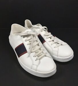 44 White Faux Leather Sneaker Trainer