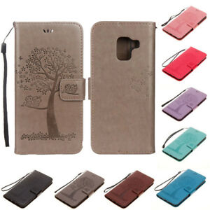 For-Samsung-Galaxy-A7-A9-A6-A8-2018-Magnetic-Leather-Case-Flip-Wallet-Card-Cover
