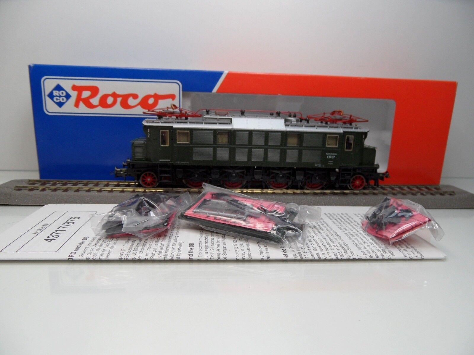 Roco 43717 - H0 - DB - E-Lok BR E17 07 - DSS - TOP in OVP -  3360
