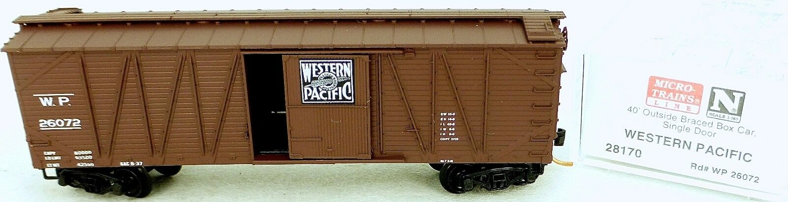 40´ outside Br Boxcar Western Pacific 26072 Micro Trains Line 28170 N 1 160 C Å