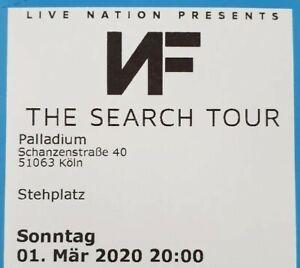 Tickets-NF-Koeln-01-03-20-Stehplaetze-Eintrittskarten-Konzertkarten-Karten