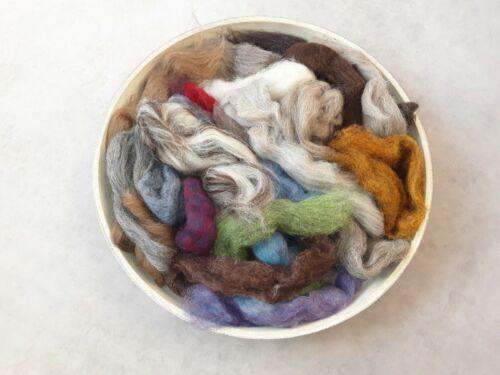 100 g Laine Pack en couleurs mélangées aiguille feutrage naturel Mélanges de Feutrage