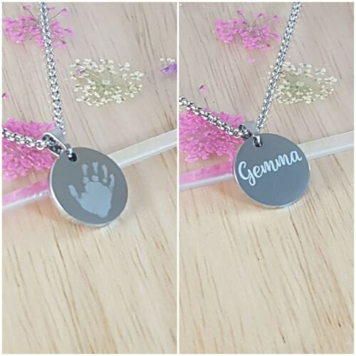Dates Godmother Christening Gift Engraved 15mm Disc Initial Necklace Name