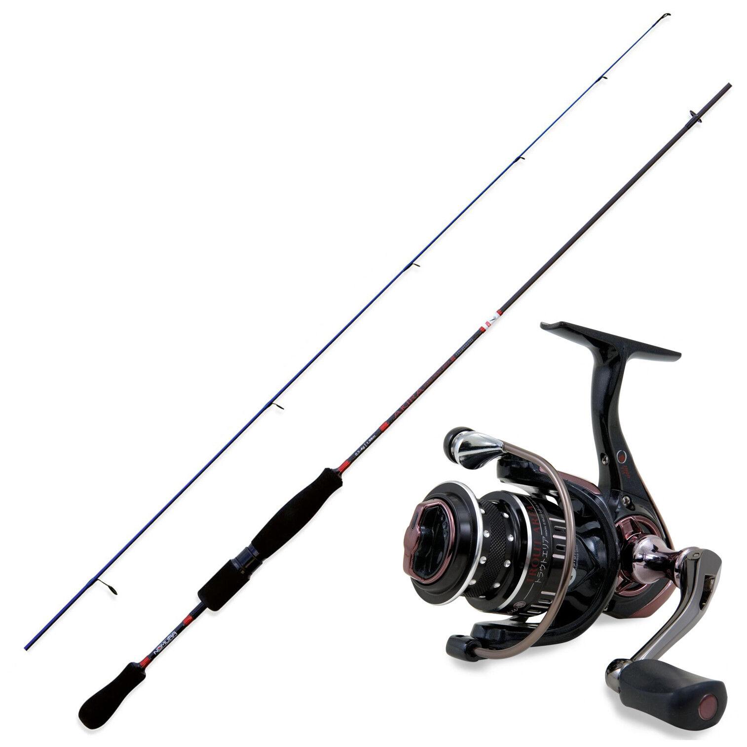 KP3574 Kit de pesca de trucha Nomura Akira Solid caña 1,70 m + Cocherete Haru