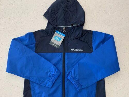 Columbia Boy/'s Windbreaker Waterproof Light Hood Jacket BLUE NAVY-Various Sizes
