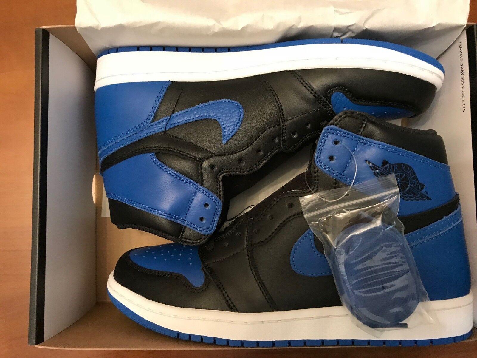 Nike Air Jordan Jordan Jordan 1 Retro High OG 555088-007 Royal blu nero bianca 2017 Brosso DS de1175