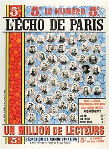 Original-Poster-L-039-Echo-de-Paris-Newspaper-3rd-Republic-1895