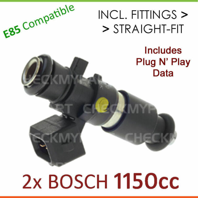 2x Brand New * BOSCH * 1150cc E85 Fuel Injector Set-up For,. Mazda RX7