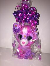 "TY DAKOTA 6"" PURPLE/PINK DOG BEANIE BOOS IN CELLO-NEW, MINT TAGS-SUPER SOFT"