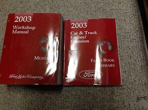 2003-Ford-Mustang-Gt-Cobra-Mach-Servicio-Tienda-Reparar-Manual-Juego-con-Facts-X