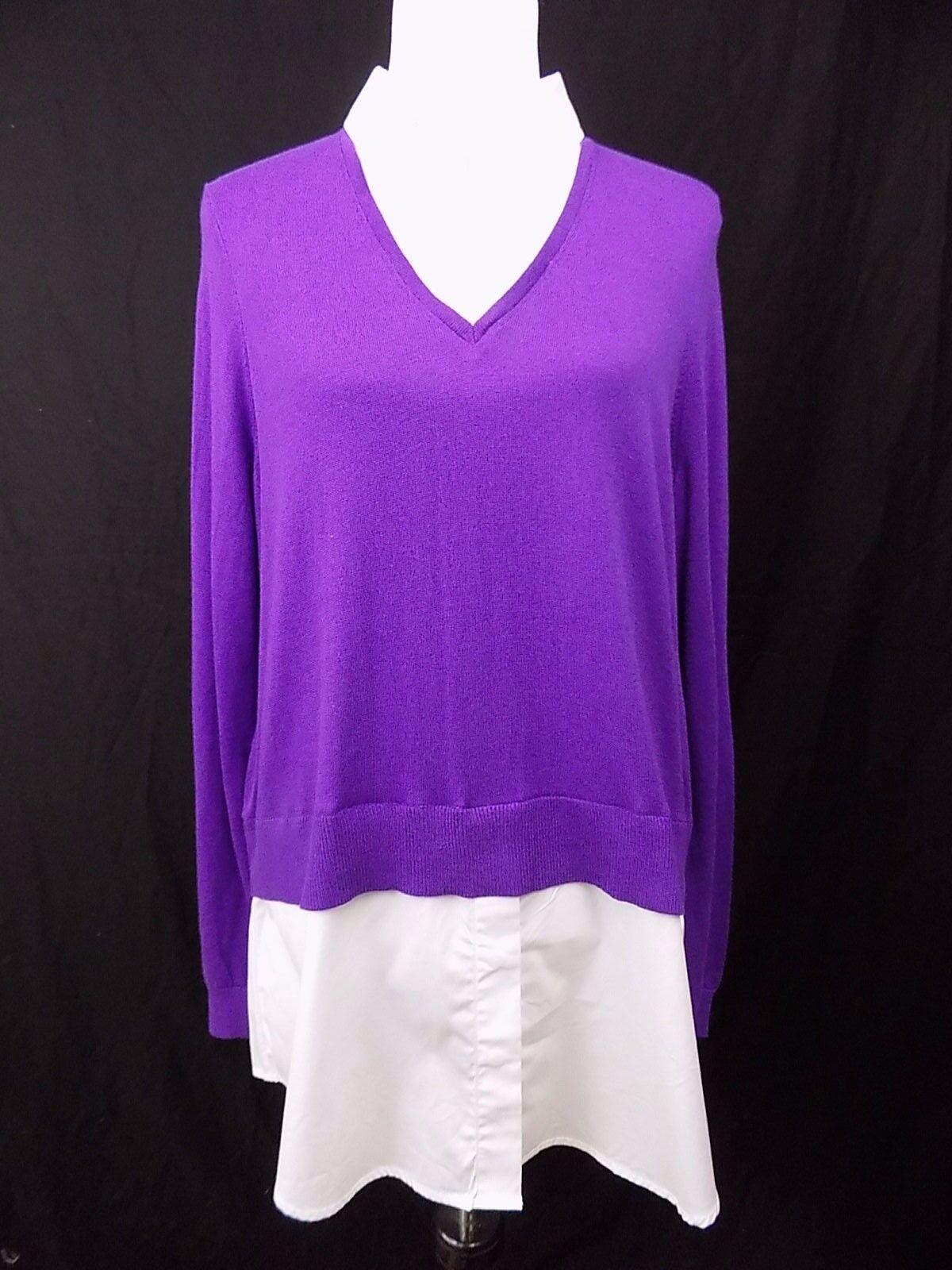 Women's Lauren Ralph Lauren LRL Purple Shirt Sweater XL  New