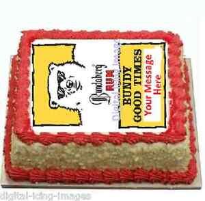 Edible Cake Images Bundaberg : Cake topper edible image icing Bundaberg Rum Bundy bear ...