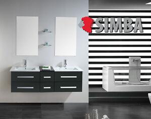 Details zu Muebles para baño para cuarto de baño con espejo baño 150 cm  grifos incluido ROM