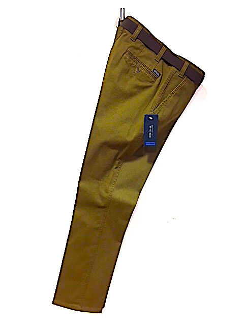 BRUHL® Venice B Cotton Stretch Trousers Brown - 42 32 SRP .00 CLEARANCE