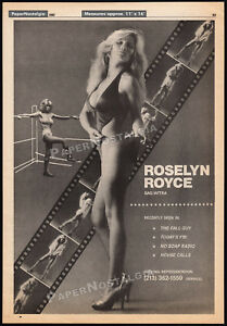 ROSELYN-ROYCE-Orig-1982-Trade-print-AD-poster-women-039-s-wrestling-The-Fall-Guy