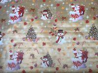 Christmas Print Vinyl PVC Tablecloth Wipe Clean Patio Oilcloth `140cm Wide