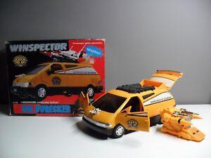 Rare 1991 Bandai Winspector Super Rescue Solbrain Sol Dwrecker Véhicule