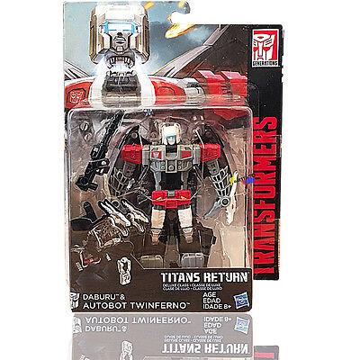 Hasbro Transformers Titans Return W1/17 Deluxe Daburu & Twinferno NEW
