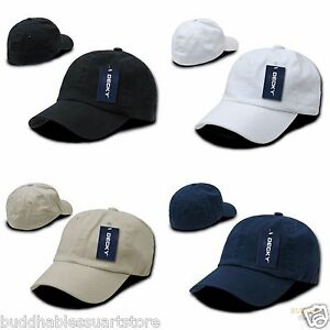 1407a107c40 DECKY Washed Cotton Polo Style Flex Fitted Baseball Hats Caps Unisex ...