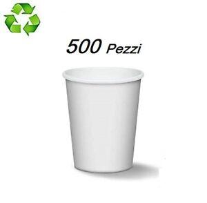 500-BICCHIERI-DI-CARTA-180ml-BIANCHI-BIODEGRADABILI-PER-CAFFE-CAPPUCCINO