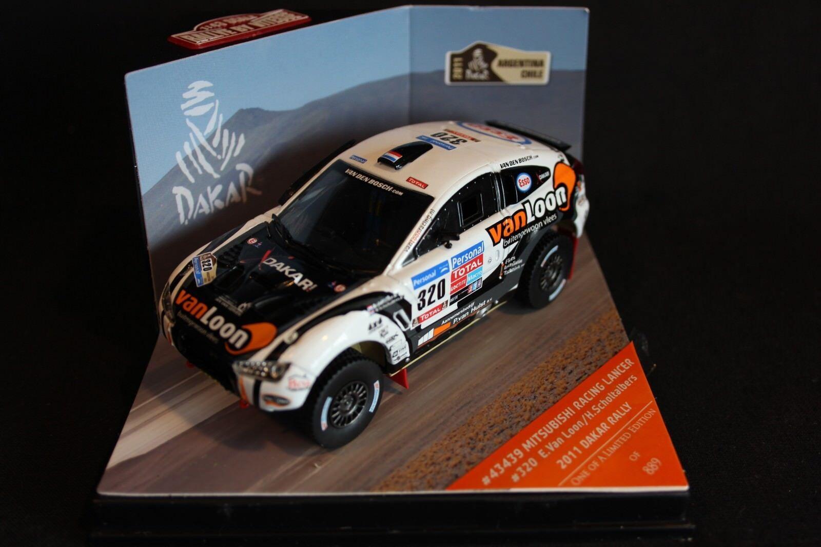 Vitesse Mitsubishi Racing Lancer 2011 1 43  320 v. Loon   Scholtalbers Dakar
