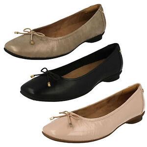 Mujer Zapatos Claro Elegante Clarks Ancho Candra E Cierres Sin Cuero Xfr4Xwq