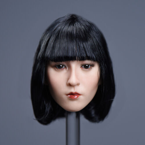 "1//6 Asian Female Head Sculpt SHORT HAIR For 12/"" PHICEN Hot Toys Figure U.S.A."