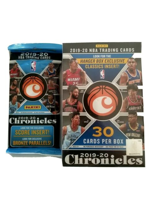 2019-2020 Chronicles NBA Basketball 1Hanger  and 1 Cello. SEALED! In Hand!